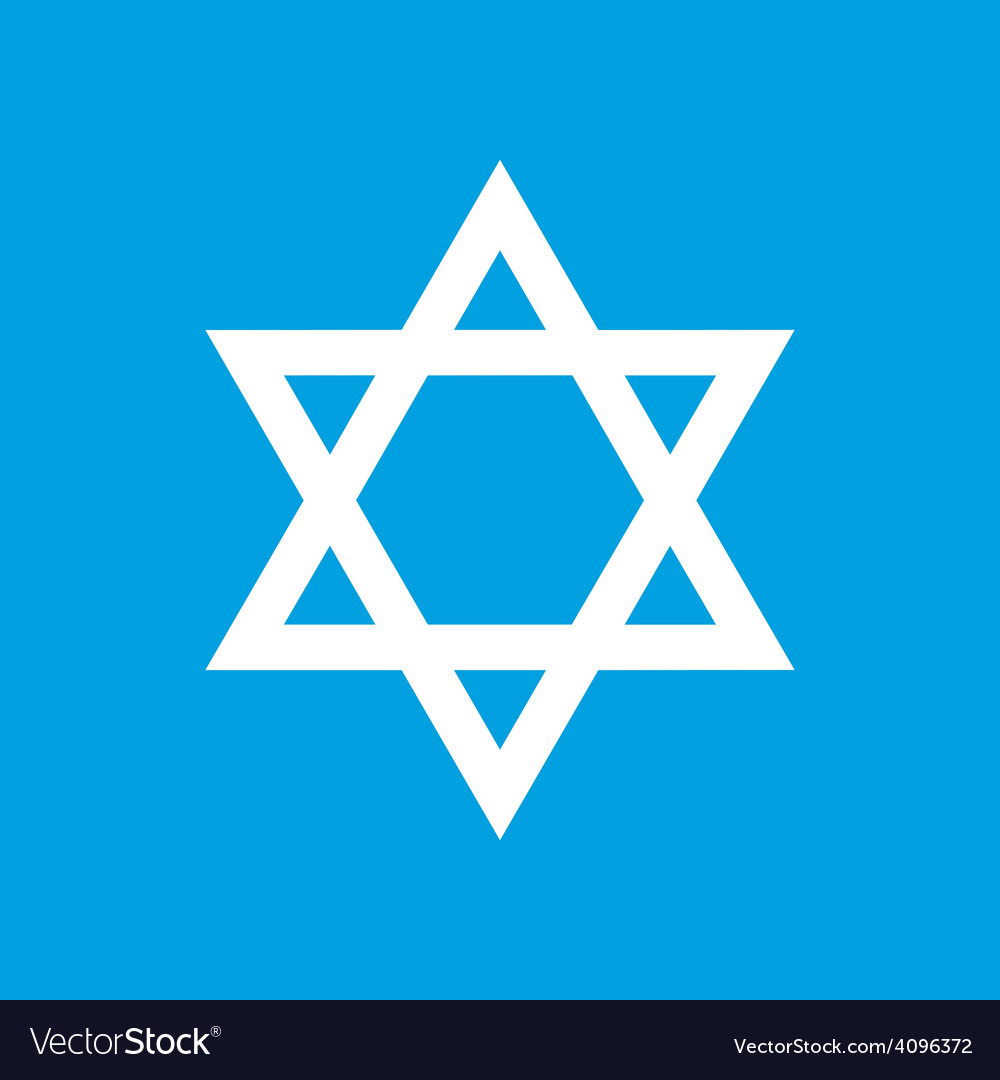 Judaism white icon vector | Price: 1 Credit (USD $1)