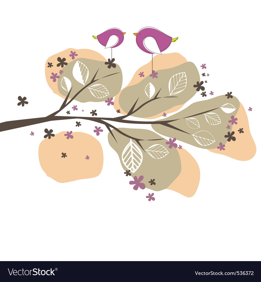 Ound with birds tree vector illustration vector | Price: 1 Credit (USD $1)