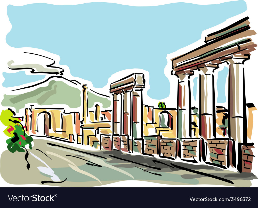 Pompeii vector | Price: 1 Credit (USD $1)