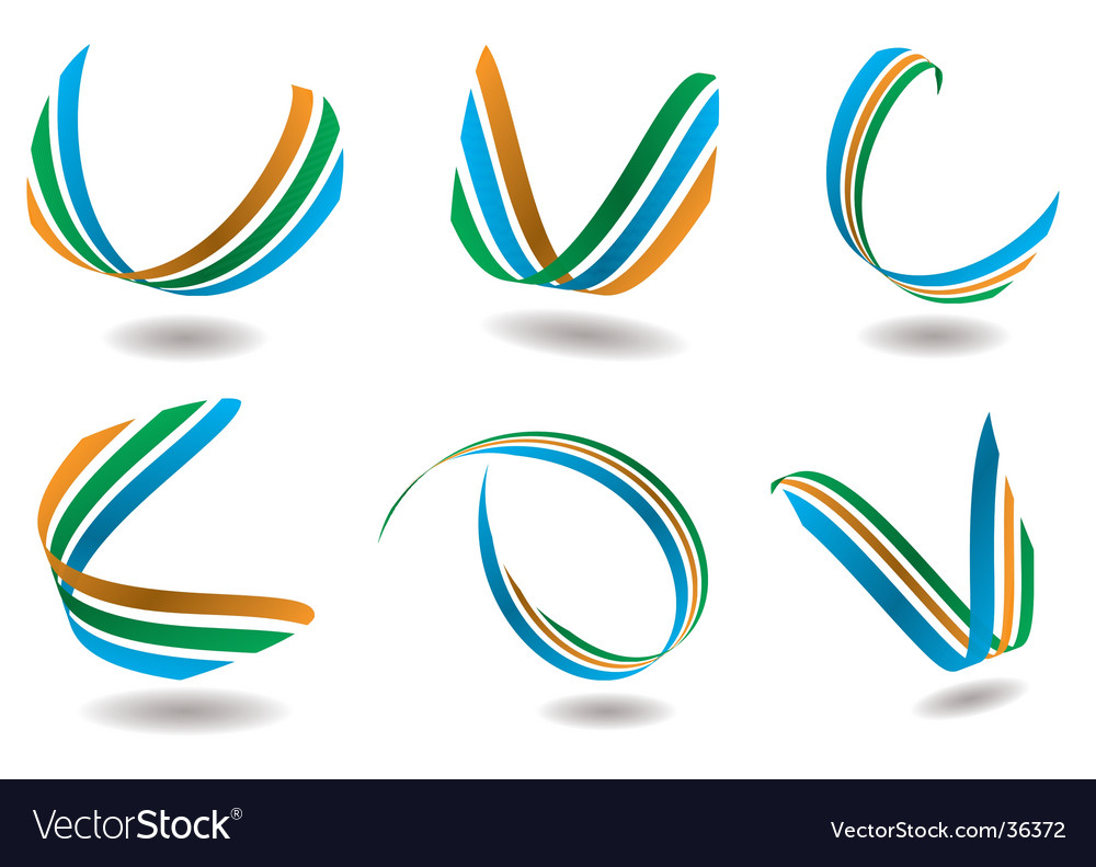 Ribbon logo vector | Price: 1 Credit (USD $1)