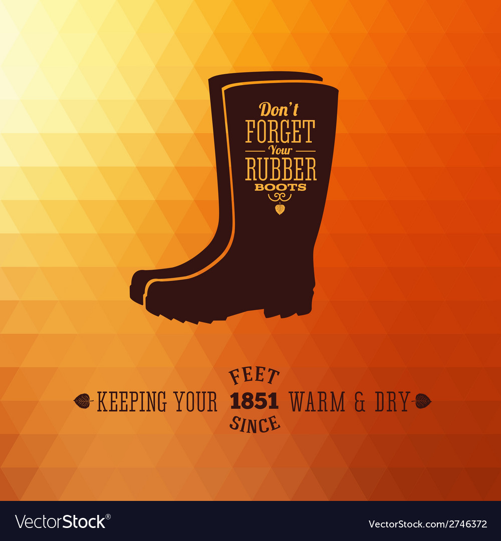 Rubber boots autumn abstract background vector | Price: 1 Credit (USD $1)