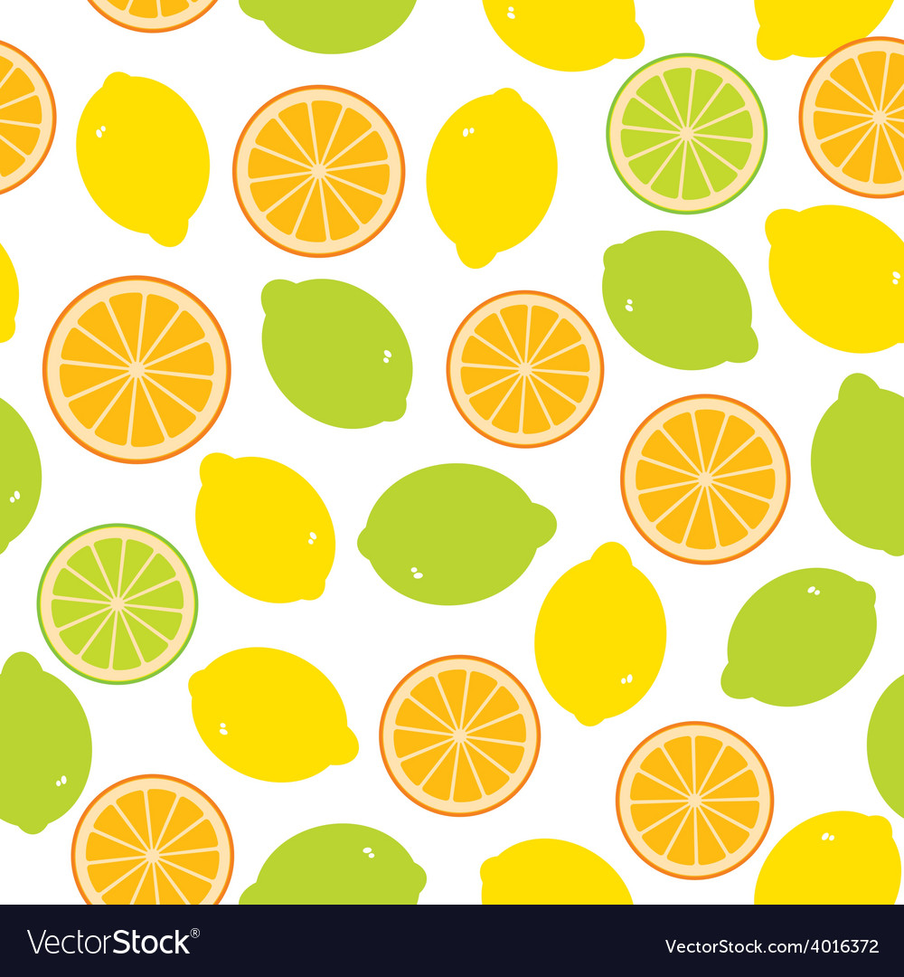 Seamless pattern with lemon lime orange on the vector | Price: 1 Credit (USD $1)