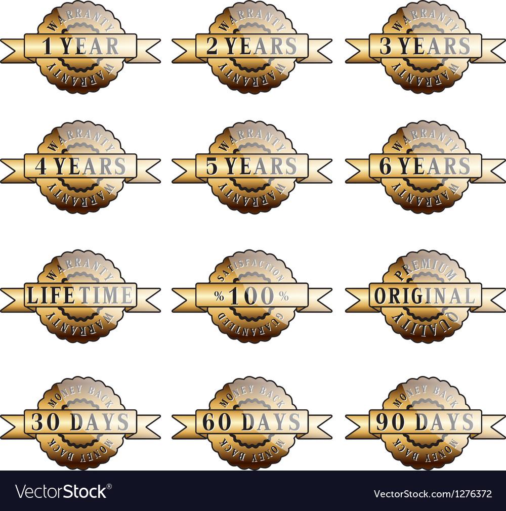 Set of 100 guarantee golden labels vector | Price: 1 Credit (USD $1)