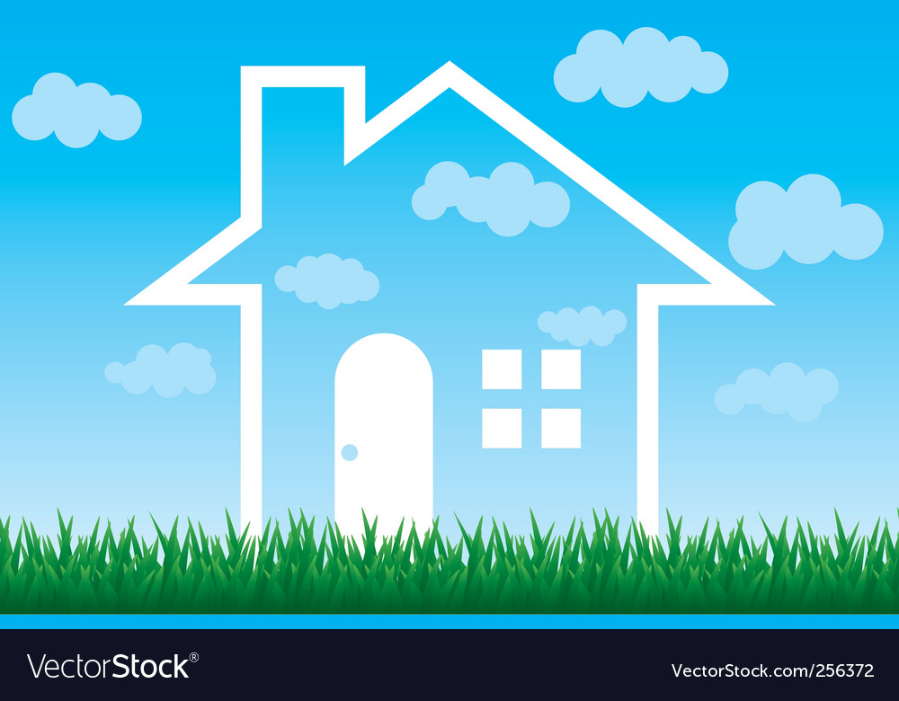 Sky house vector | Price: 1 Credit (USD $1)