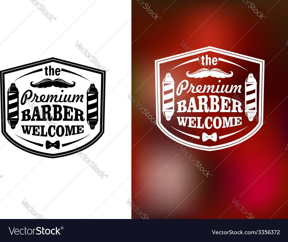 Vintage barber shop welcome banner design vector | Price: 1 Credit (USD $1)