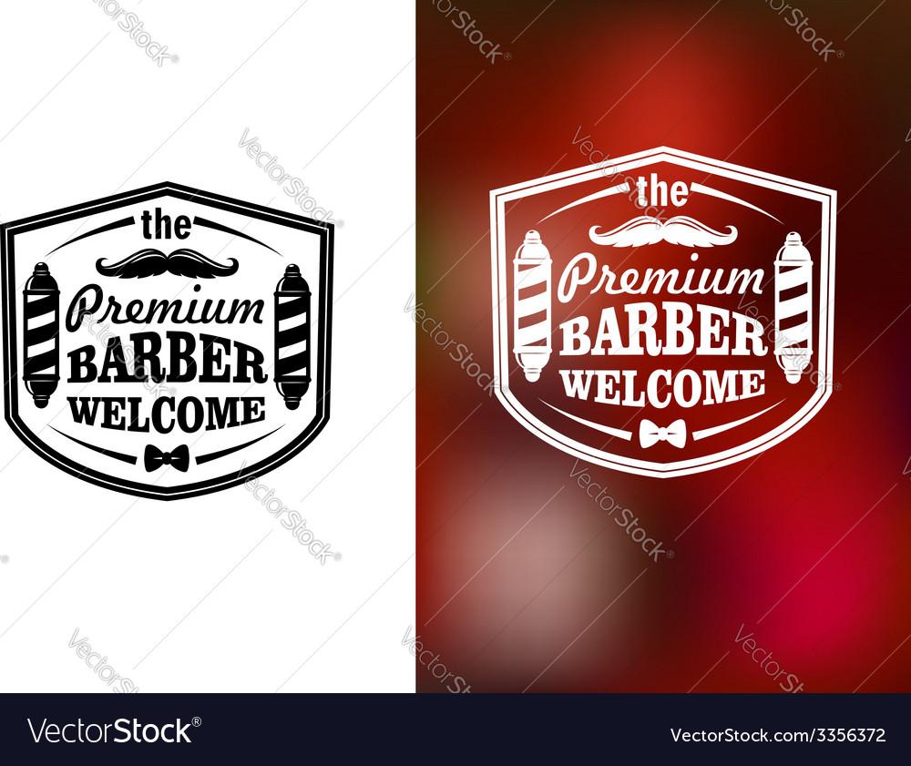 Vintage barber shop welcome banner design vector | Price: 1 Credit (USD $1)