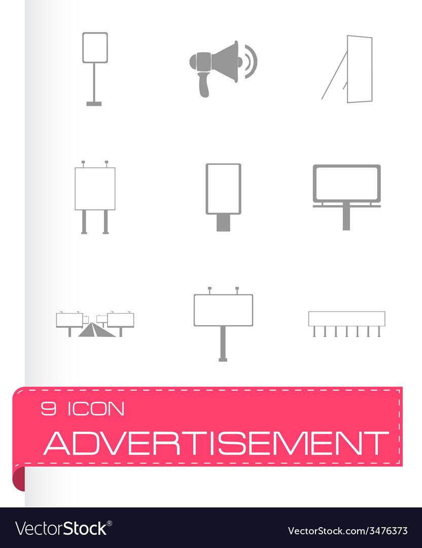Advertisement icon set vector   Price: 1 Credit (USD $1)