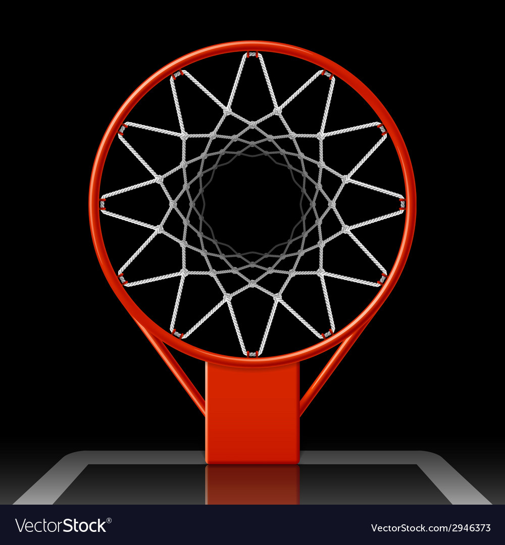 Basketball hoop on black vector | Price: 1 Credit (USD $1)
