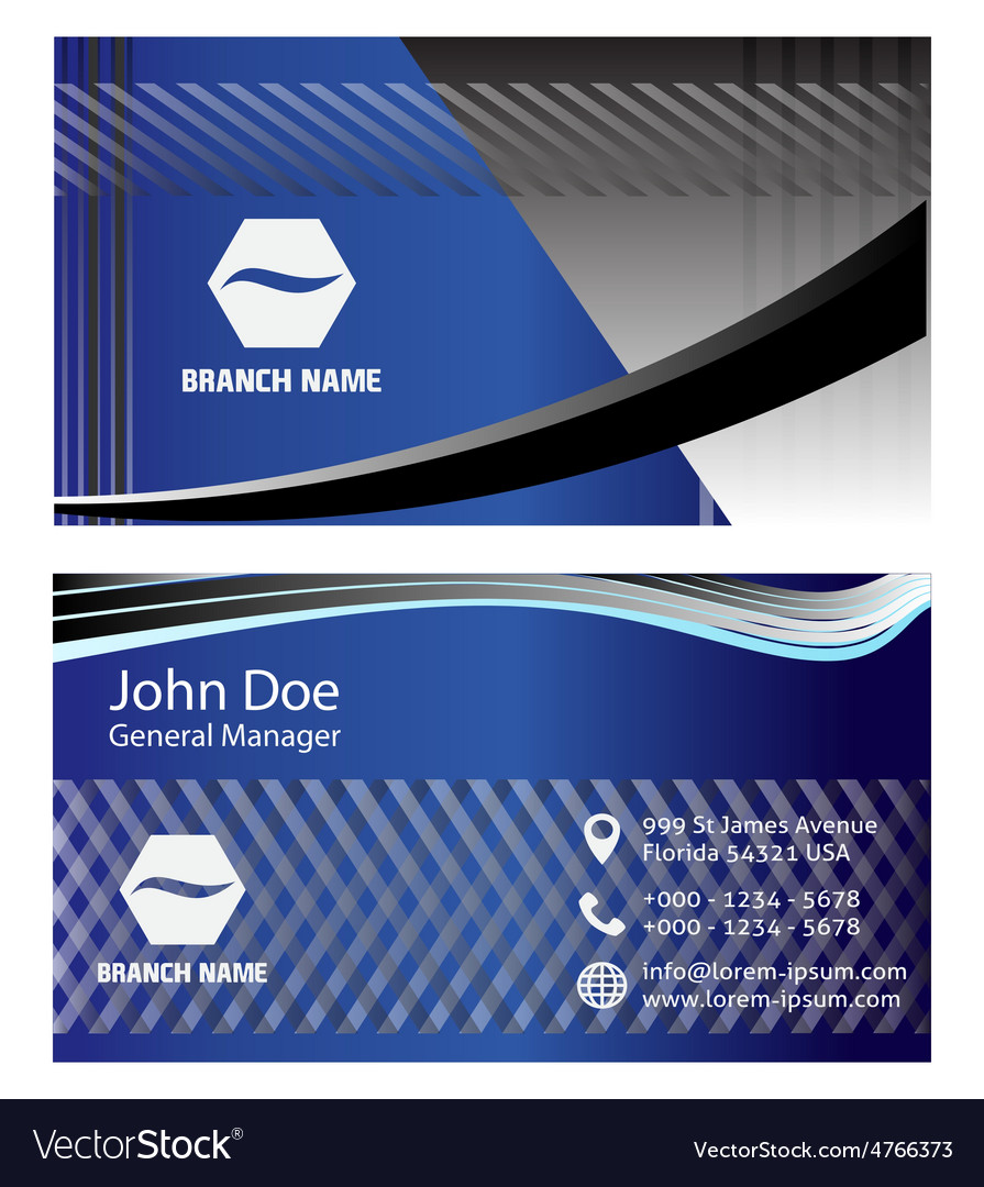 Blue business cards vector | Price: 1 Credit (USD $1)