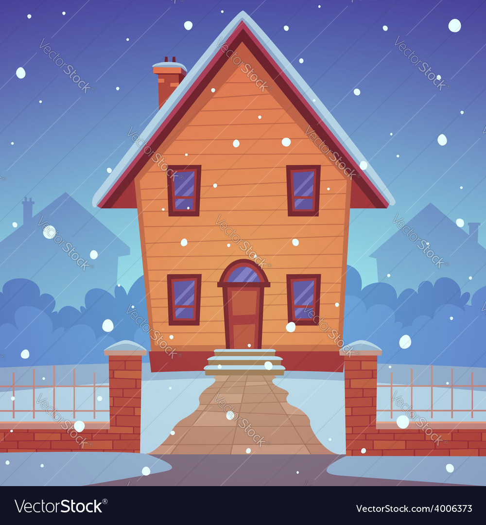 Cartoon house vector | Price: 5 Credit (USD $5)