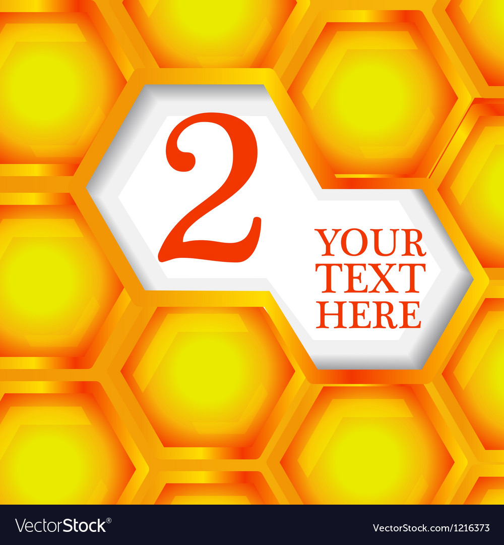 Honeycomb abstract background vector | Price: 1 Credit (USD $1)