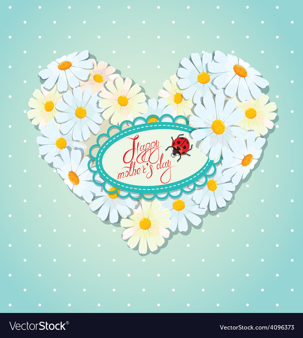 Mother day card 1 380 vector | Price: 1 Credit (USD $1)