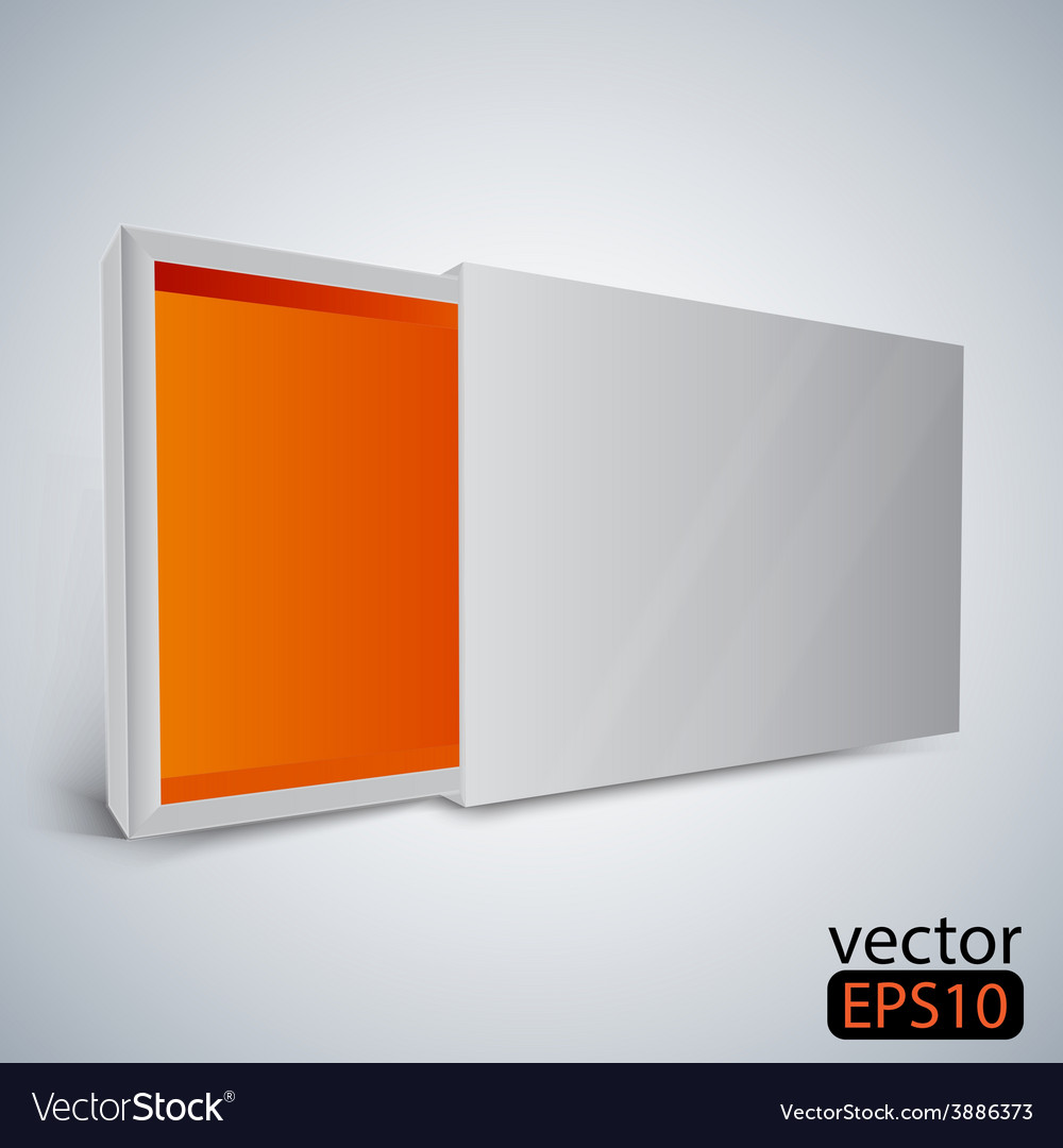 Opened white box vector | Price: 1 Credit (USD $1)