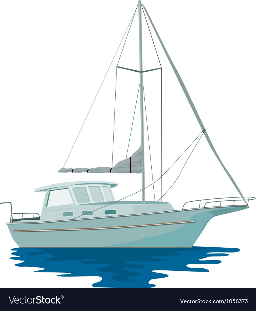 Sailboat retro vector | Price: 1 Credit (USD $1)