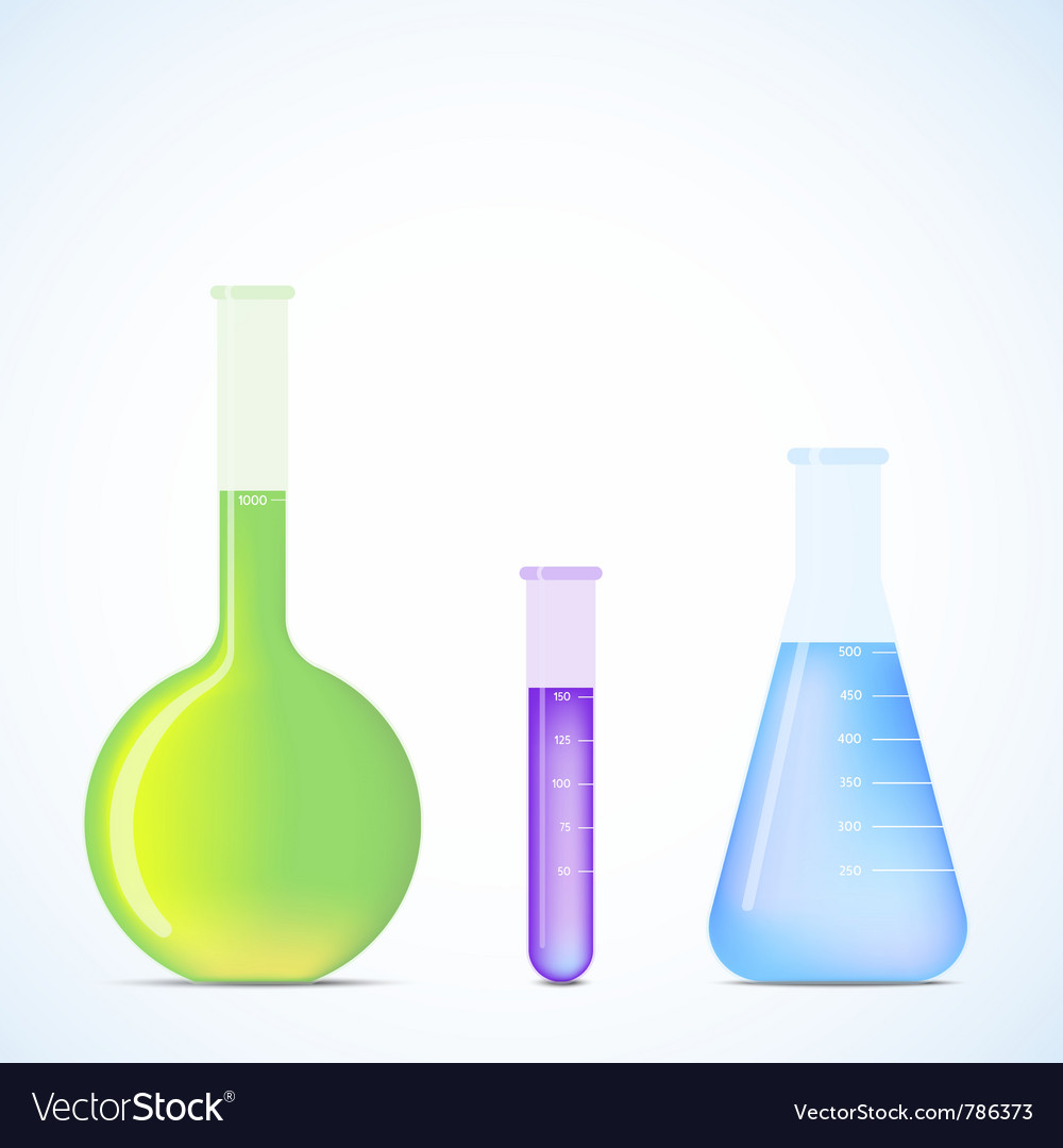 Science flasks vector | Price: 1 Credit (USD $1)