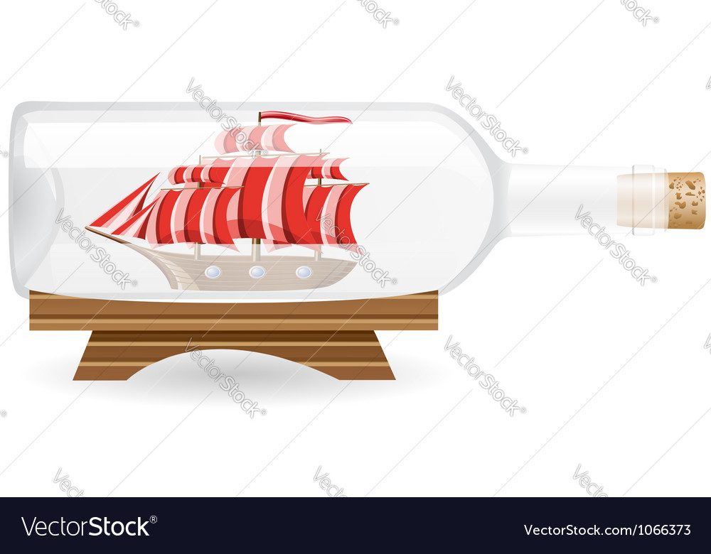 Ship in a bottle eps10 vector | Price: 3 Credit (USD $3)
