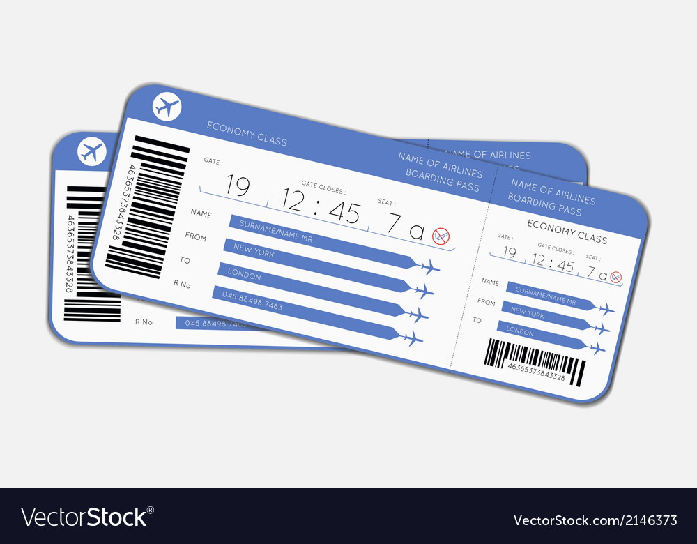 Two boarding passes vector | Price: 1 Credit (USD $1)