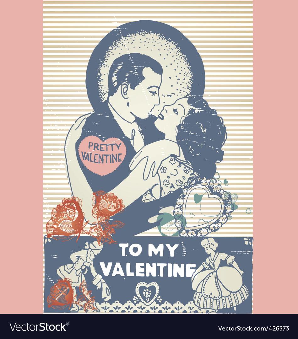 Valentines poster vector | Price: 1 Credit (USD $1)
