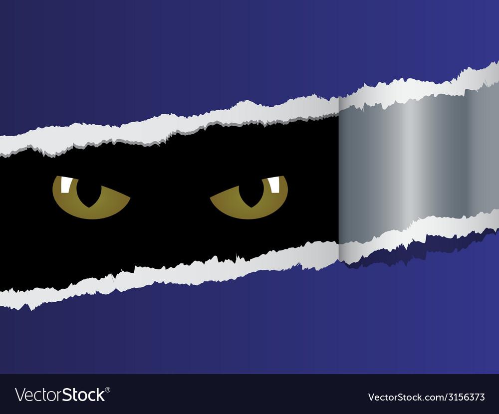 View on feline eyes vector | Price: 1 Credit (USD $1)