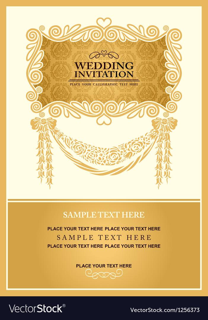 Vintage background wedding invitation vector | Price: 1 Credit (USD $1)