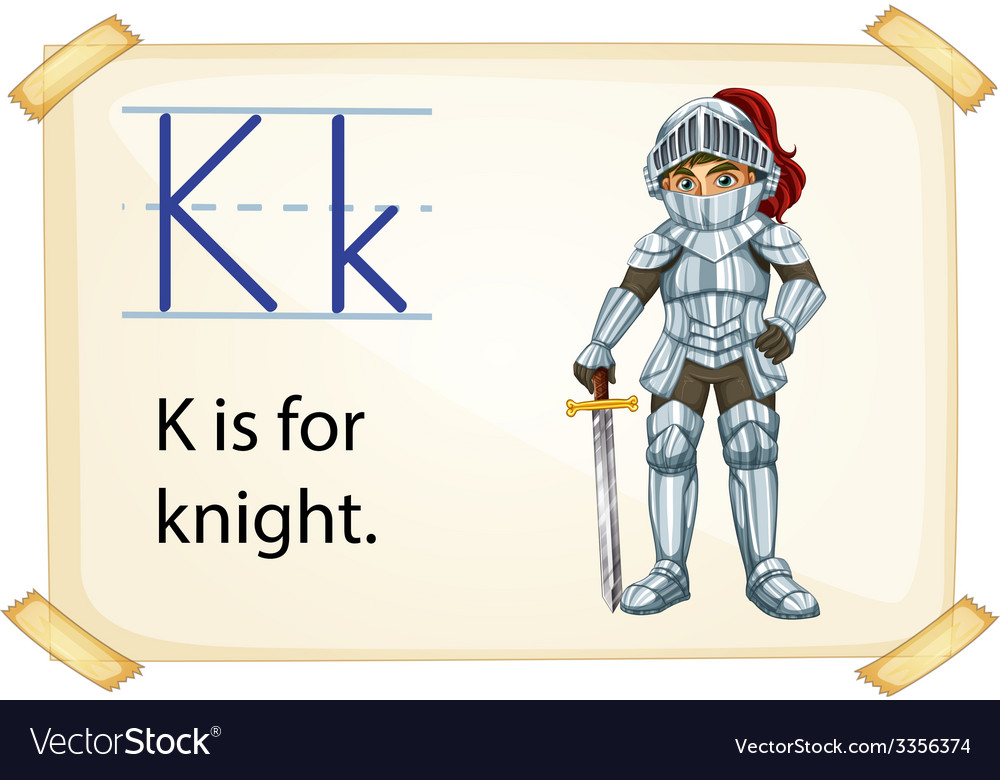 A letter k for knight vector | Price: 3 Credit (USD $3)