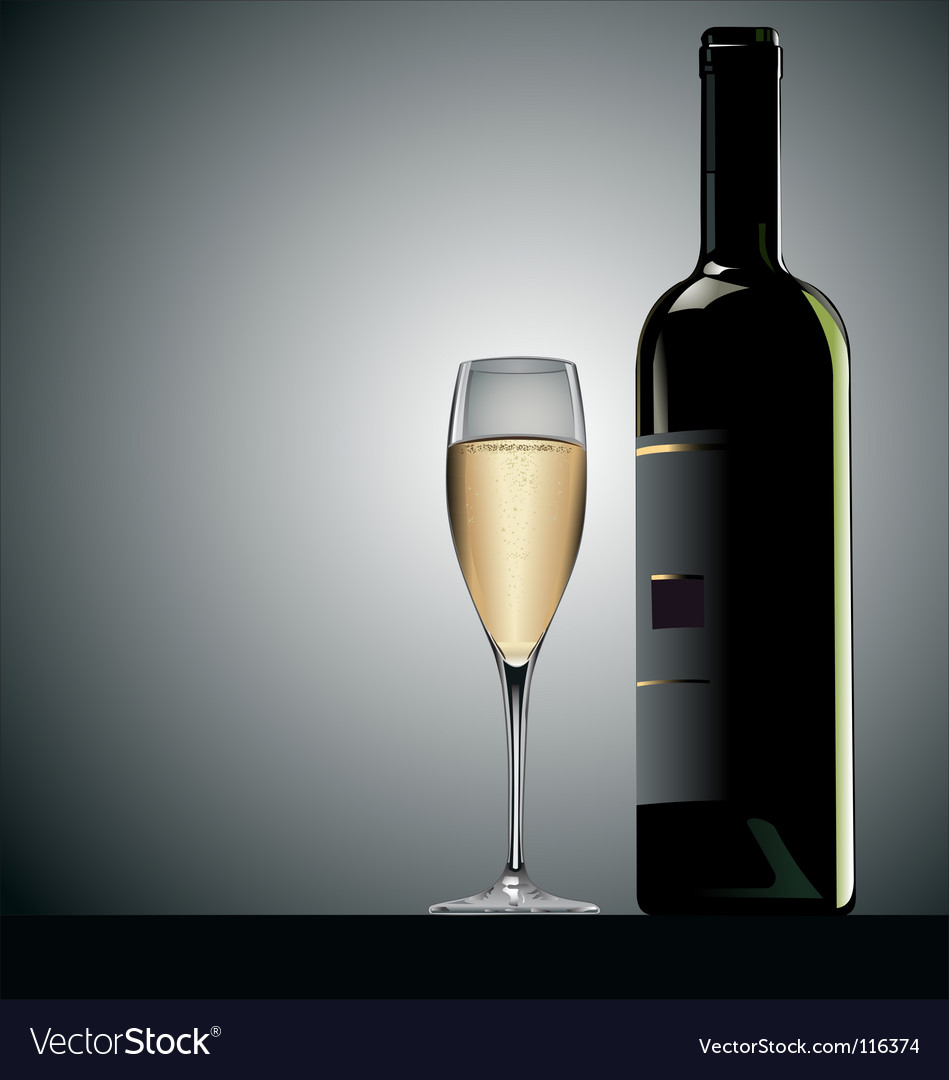 Glass of wine vector | Price: 3 Credit (USD $3)
