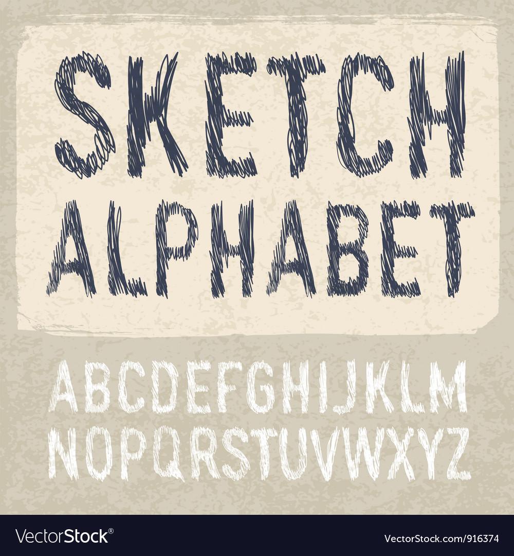 Hatching alphabet vector | Price: 1 Credit (USD $1)