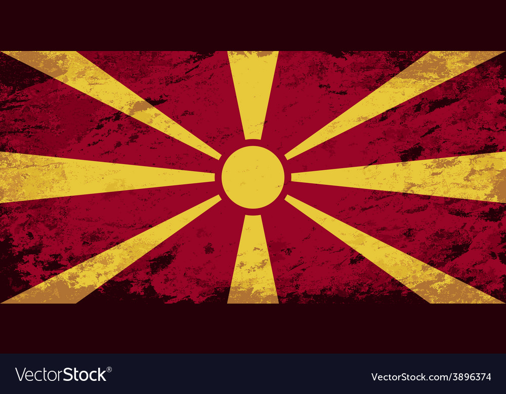Macedonian flag grunge background vector | Price: 1 Credit (USD $1)