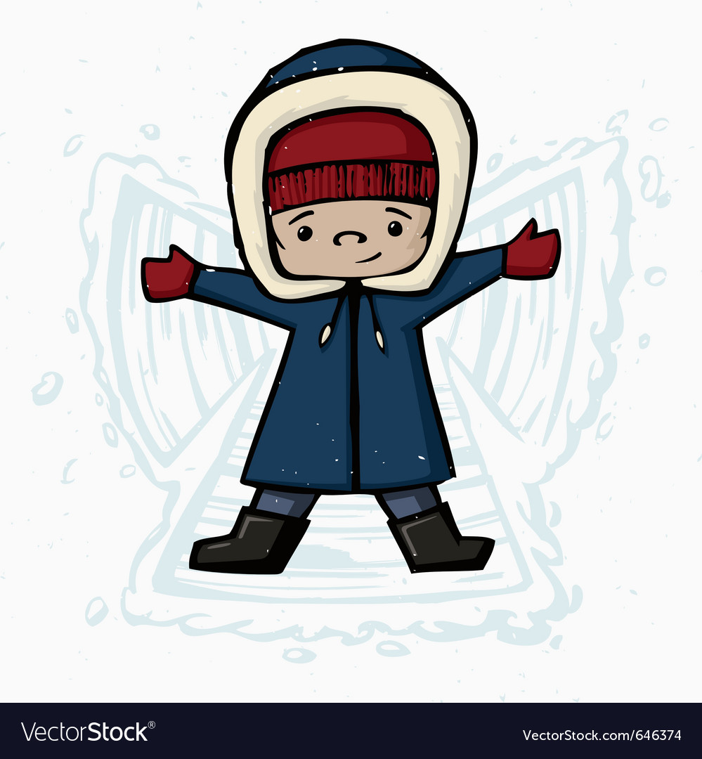 Making snow angels vector | Price: 1 Credit (USD $1)
