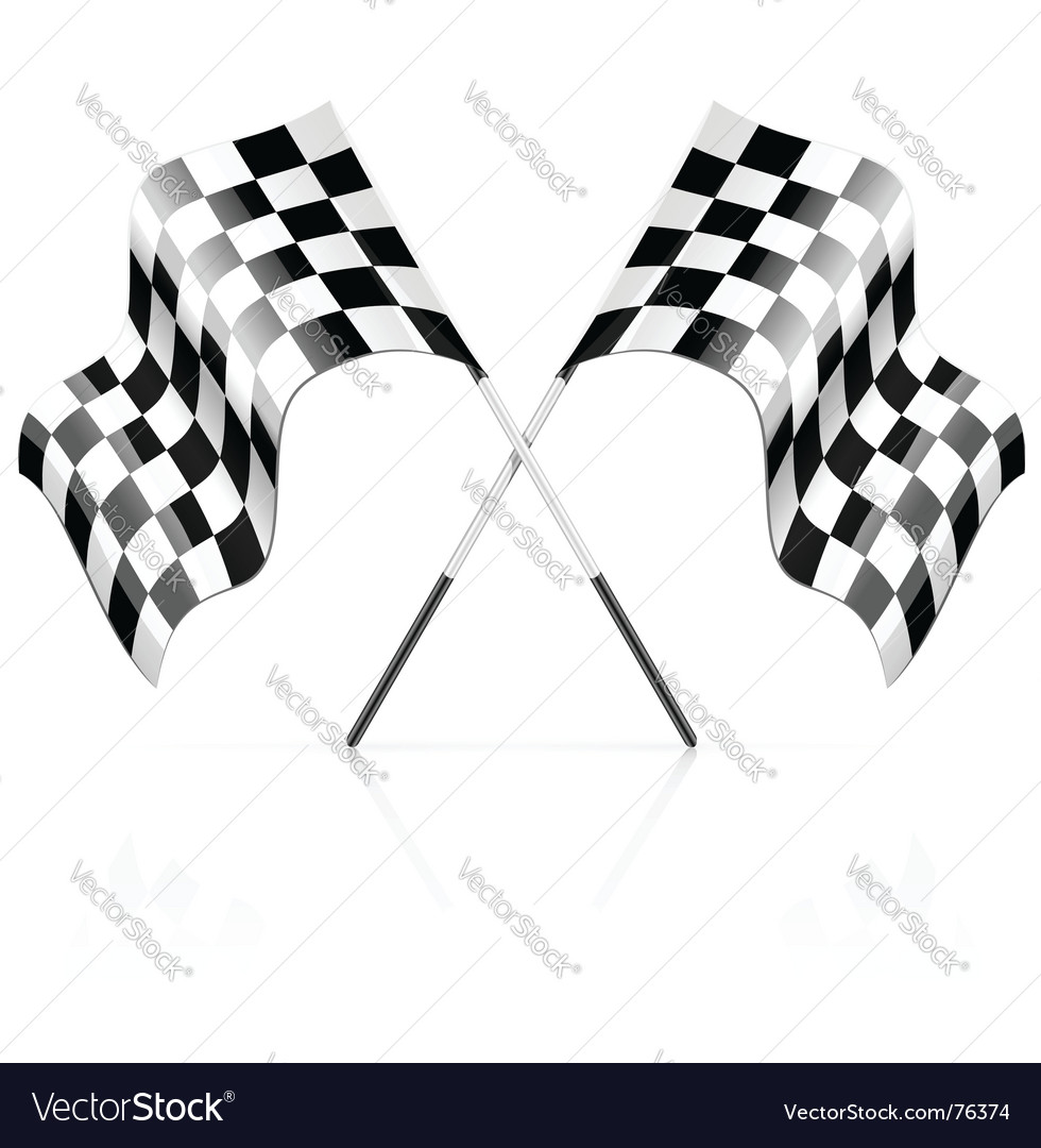 Racing sport start finish signs vector | Price: 1 Credit (USD $1)