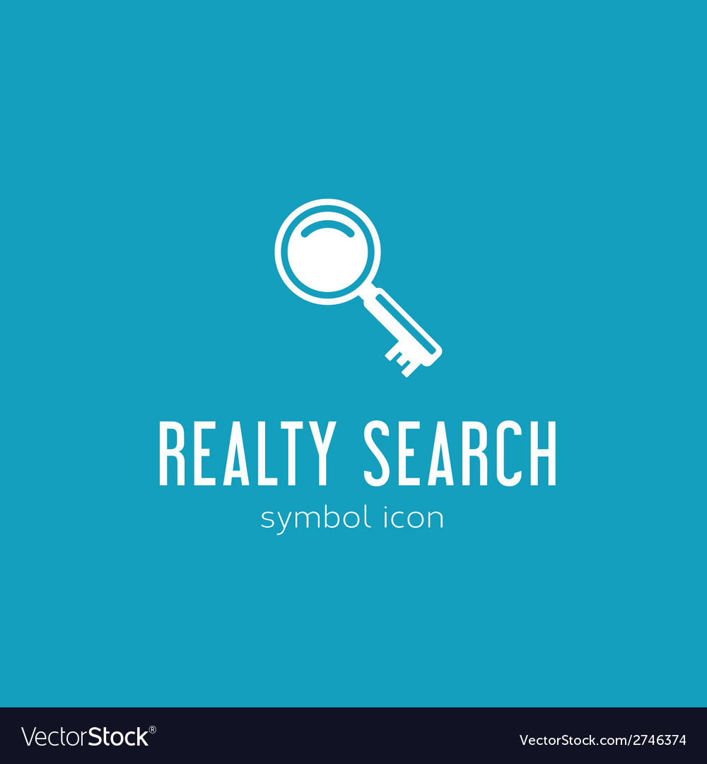 Realty search concept symbol icon or logo template vector | Price: 1 Credit (USD $1)