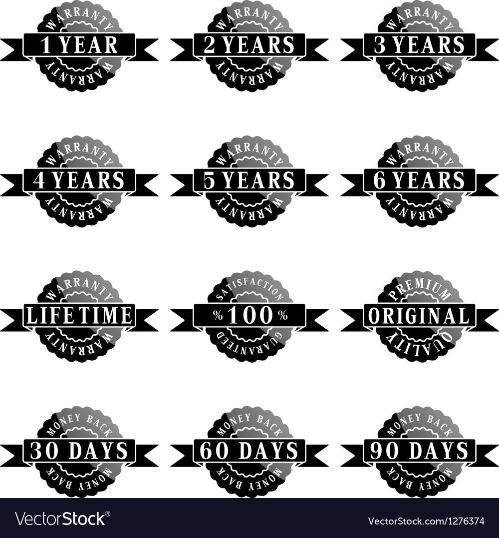 Set of 100 guarantee labels vector | Price: 1 Credit (USD $1)