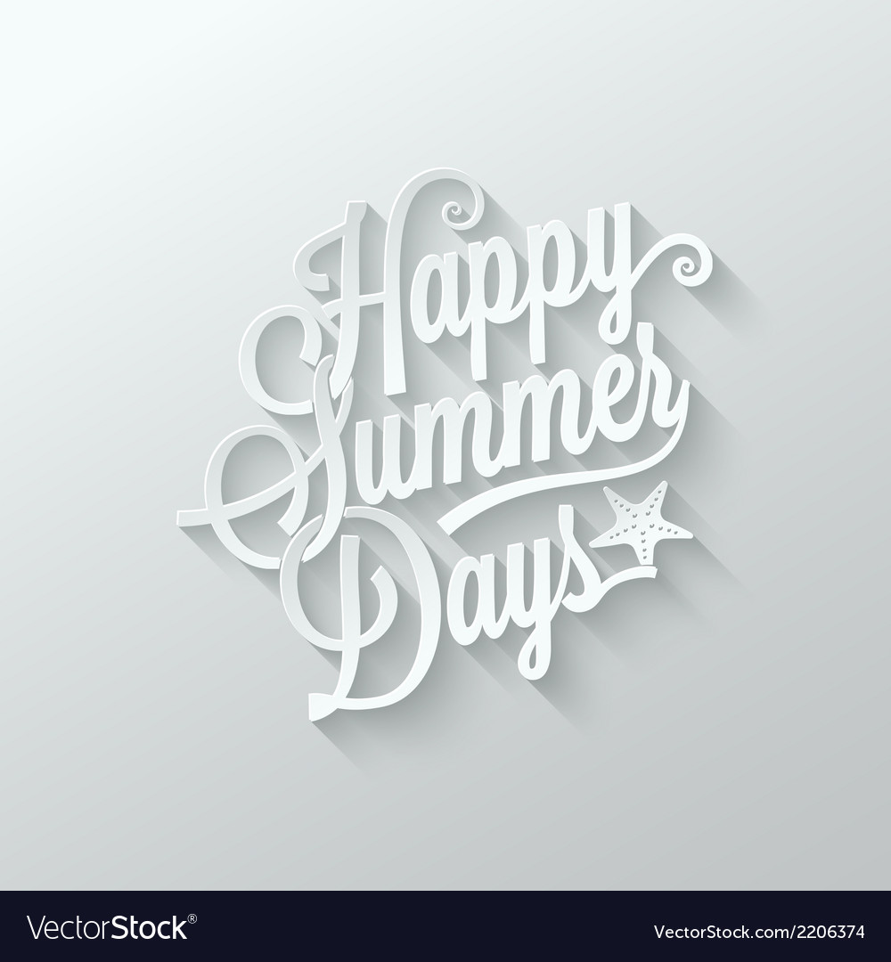Summer paper cut lettering background vector | Price: 1 Credit (USD $1)