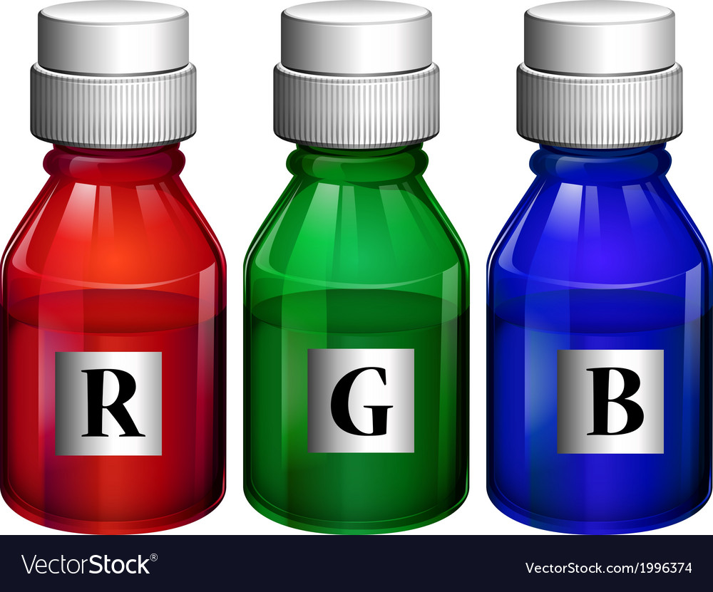 Three bottles of ink vector | Price: 1 Credit (USD $1)