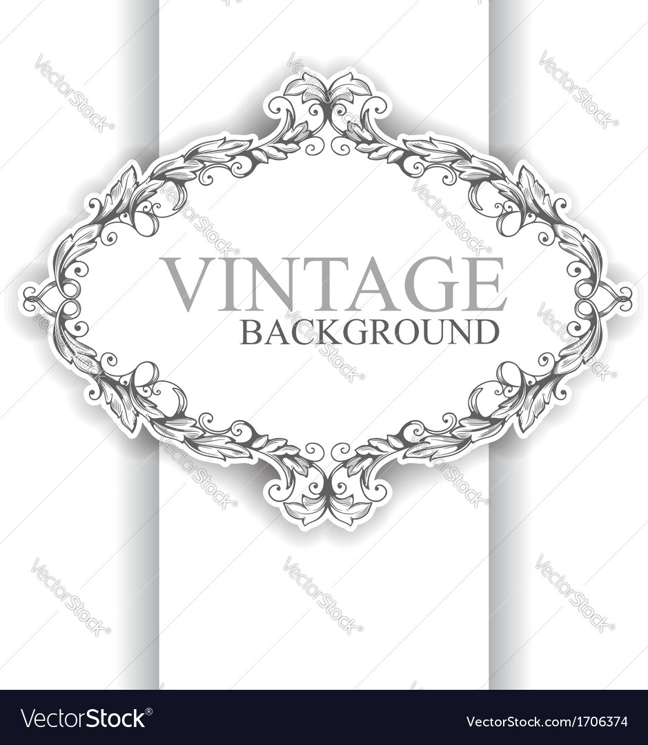 Vintage form vector | Price: 1 Credit (USD $1)