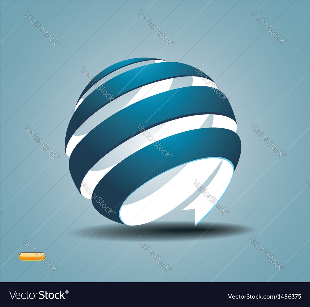 Abstract sphere made from colorful stripes vector | Price: 1 Credit (USD $1)