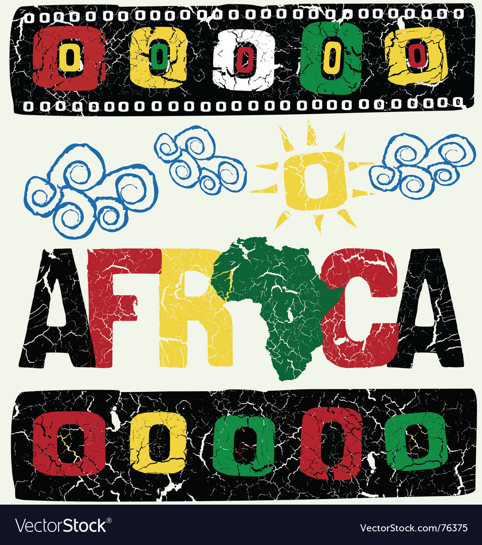 Africa elements vector | Price: 1 Credit (USD $1)