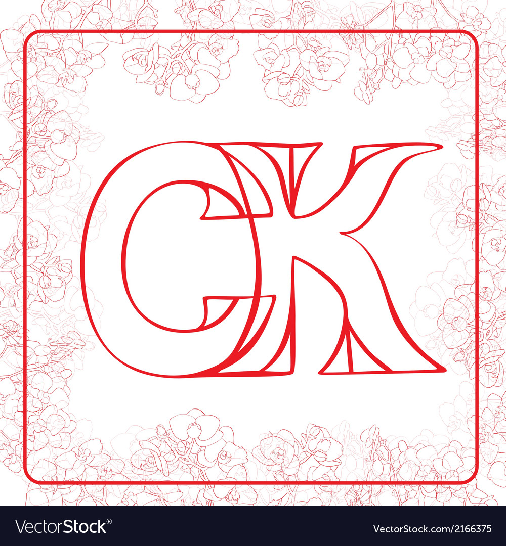 Ck monogram vector | Price: 1 Credit (USD $1)