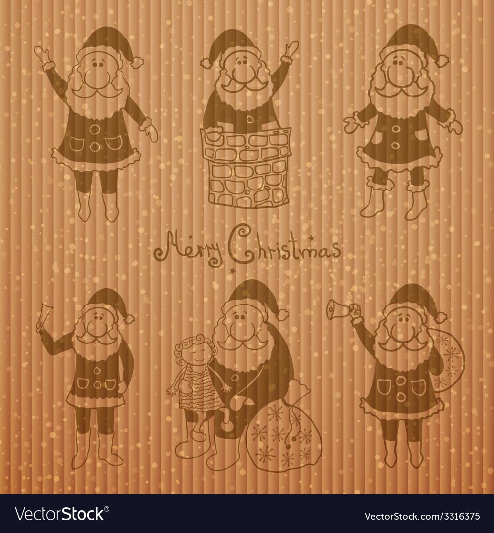 Doodle santa claus set vector   Price: 1 Credit (USD $1)