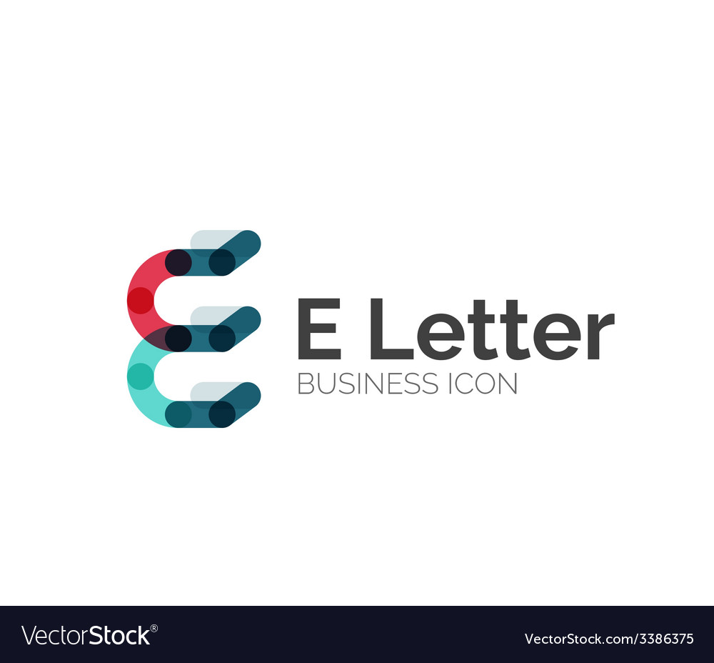 E letter logo minimal line design vector | Price: 1 Credit (USD $1)