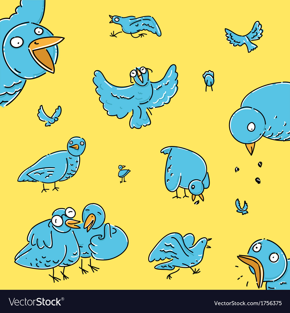 Flock of pigeons vector | Price: 1 Credit (USD $1)