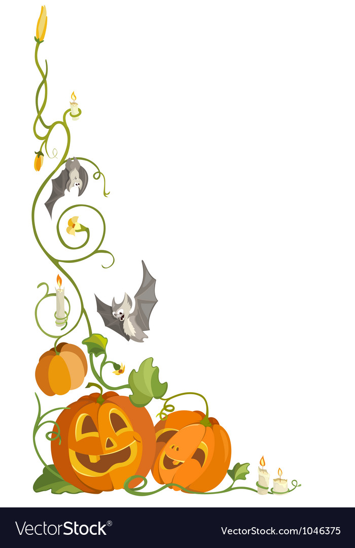 Funny pumpkin and bats vector | Price: 1 Credit (USD $1)