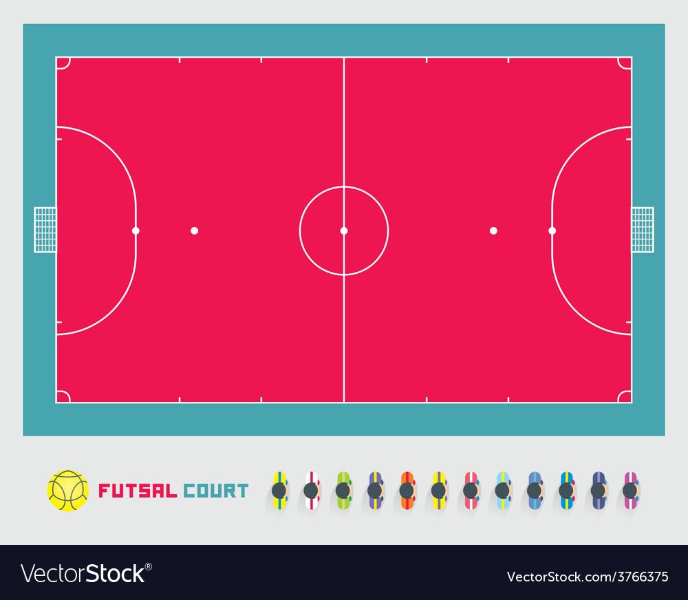Futsal court vector | Price: 1 Credit (USD $1)
