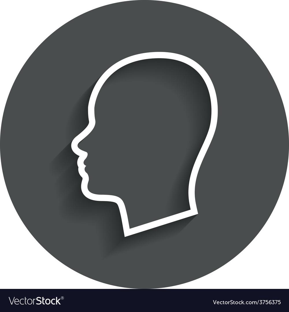 Head sign icon female woman human head vector   Price: 1 Credit (USD $1)