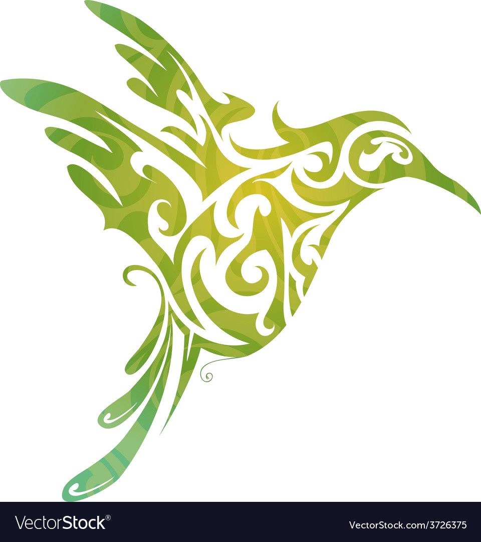 Hummingbird abstraction vector | Price: 1 Credit (USD $1)