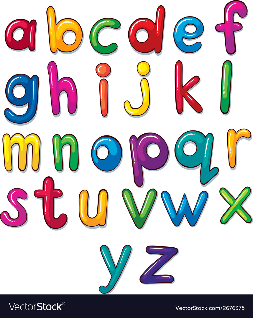 Letters of the alphabet artwork vector | Price: 1 Credit (USD $1)