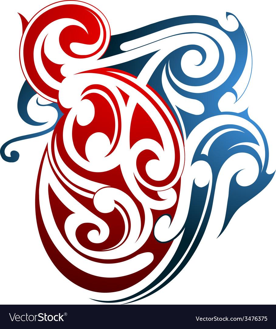 Maori tattoo vector | Price: 1 Credit (USD $1)