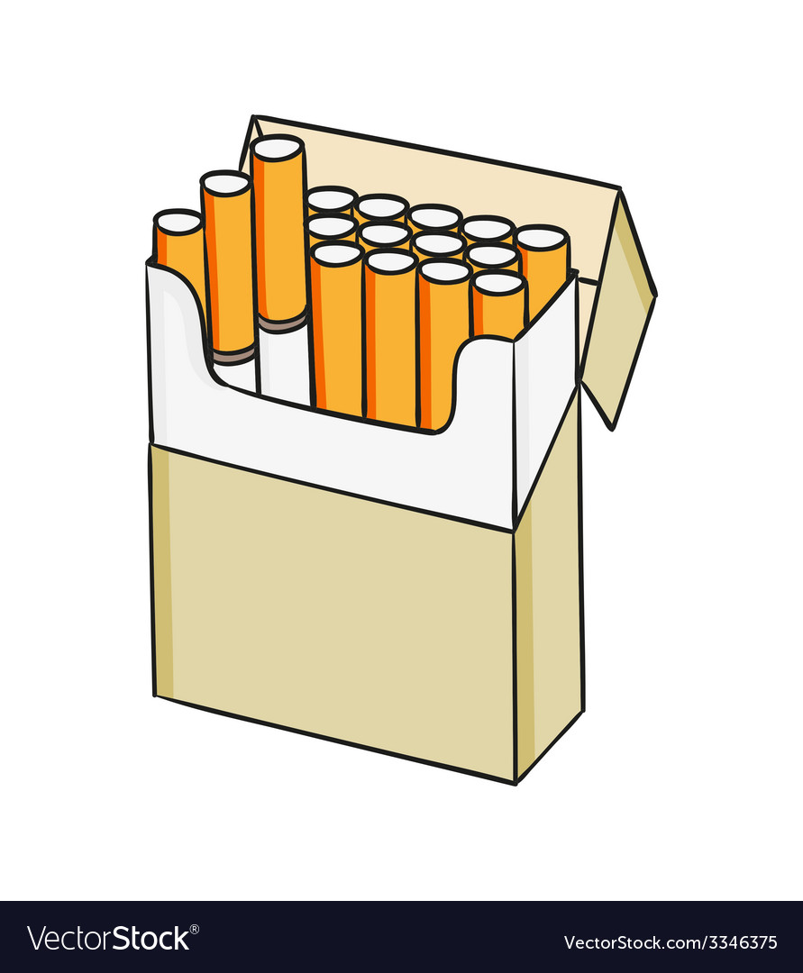 Pack of cigarettes vector | Price: 1 Credit (USD $1)