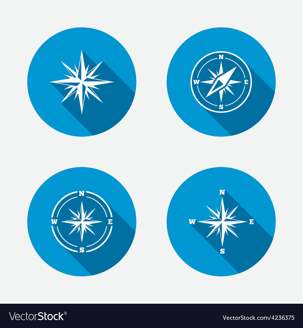 Windrose navigation icons compass symbols vector | Price: 1 Credit (USD $1)