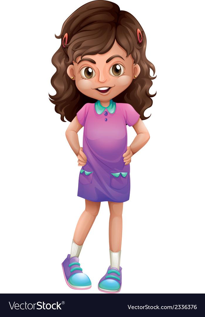 A cute schoolgirl vector | Price: 1 Credit (USD $1)
